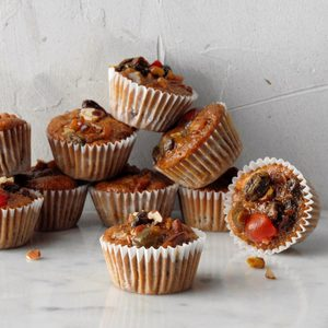Miniature Christmas Fruitcakes