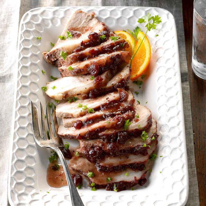 Moist Cranberry Pork Roast