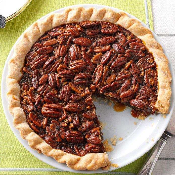 Molasses-Bourbon Pecan Pie