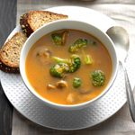 Mushroom & Broccoli Soup