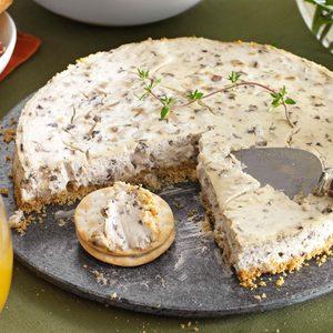 Mushroom, Walnut & Thyme Cheesecake