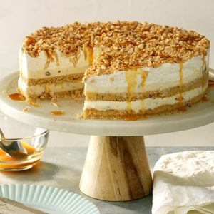 Nutty Caramel Ice Cream Cake