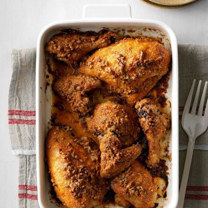 Nutty Oven-Fried Chicken