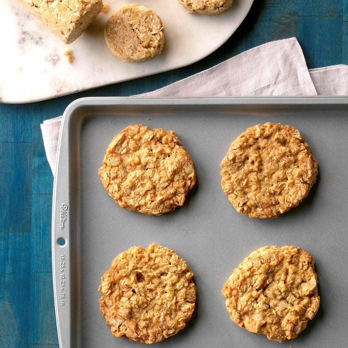 Oat & Coconut Icebox Cookies