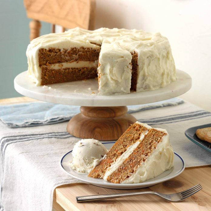 Old Fashioned Carrot Cake With Cream Cheese Frosting Exps Mcsmz17 14593 D01 05 7b 12