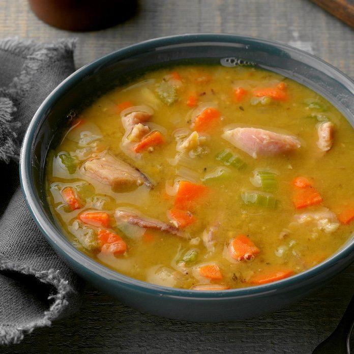 Old Fashioned Split Pea Soup With Ham Bone Exps Diyd19 16116 B11 20 1b 5