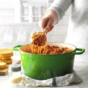 One-Pot Meaty Spaghetti