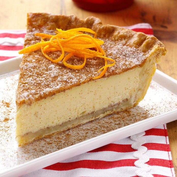 Orange Natilla Custard Pie