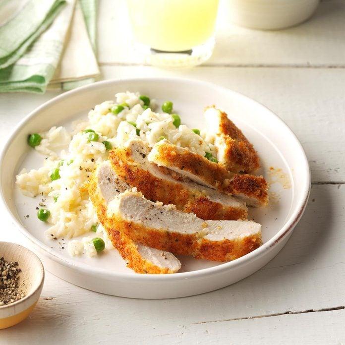 Parmesan Chicken With Lemon Rice Exps Sdam17 200544 C12 07 5b 2