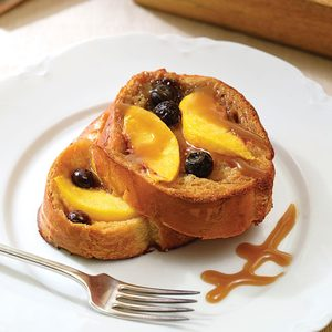 Peach-Blueberry French Toast