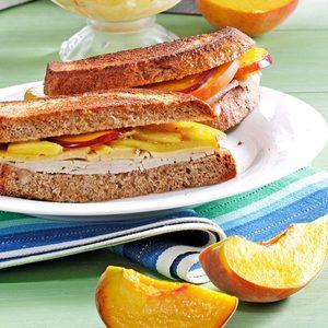 Peach Turkey Sandwiches
