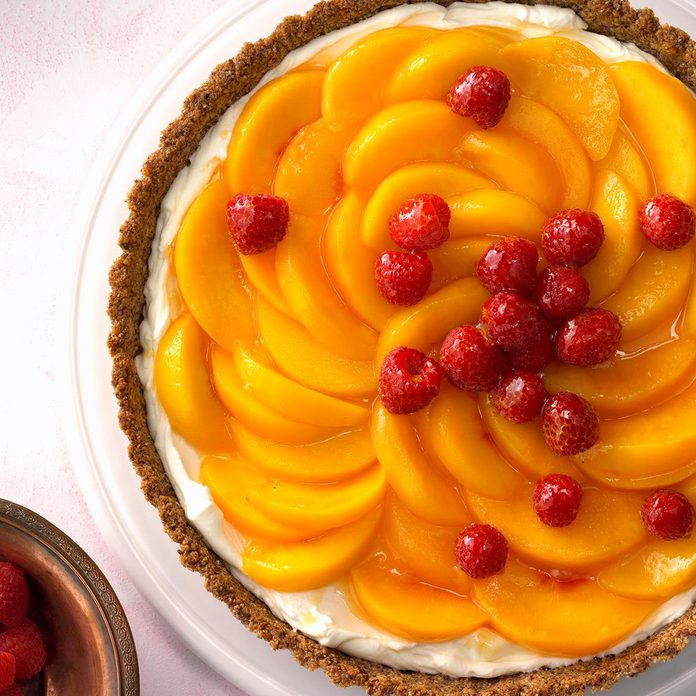 Peaches 'n' Cream Raspberry Tart