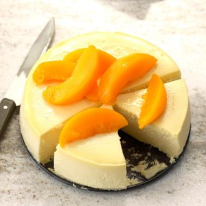 Peachy Summer Cheesecake