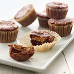 Peanut Butter-Filled Brownie Cupcakes
