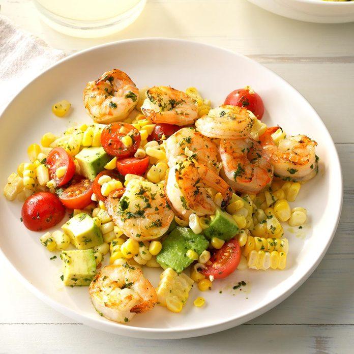 Pesto Corn Salad With Shrimp Exps Sdas17 170439 D04 12 6b 2