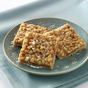 Pine Nut Caramel Shortbread