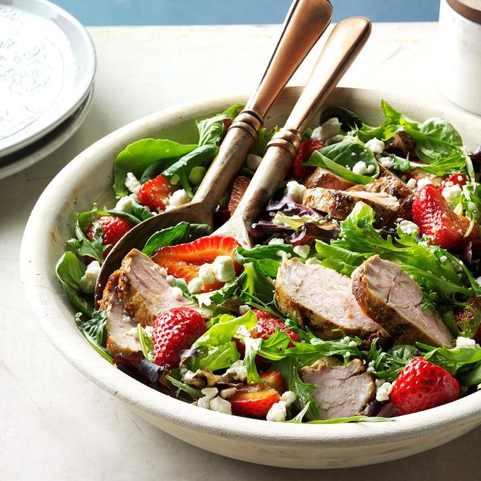 Pork and Balsamic Strawberry Salad