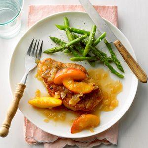 Pork Chops with Nectarine Sauce