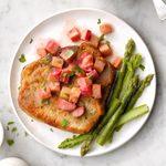 Pork Chops with Rhubarb