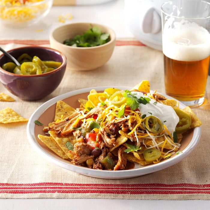 Pressure-Cooker Black Bean Chicken Nachos