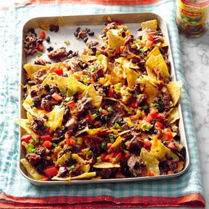 Pressure Cooker Hearty Pork & Black Bean Nachos