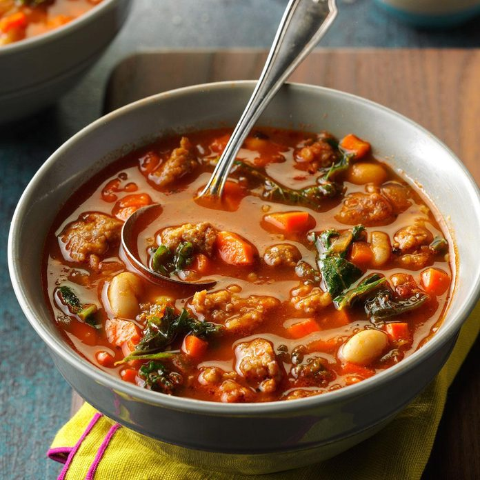 Instant Pot Italian Sausage & Kale Soup