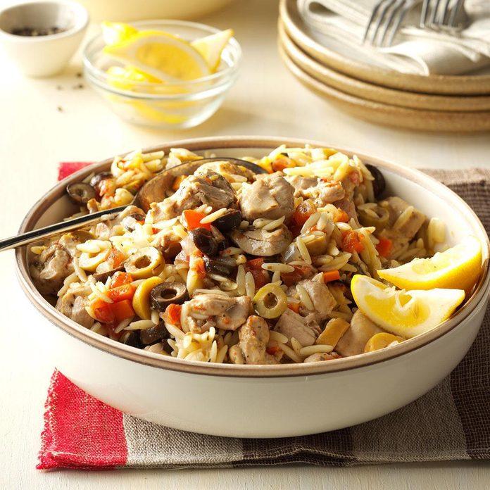 Instant Pot Mediterranean Chicken Orzo