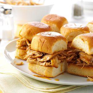 Pressure Cooker Mini Teriyaki Turkey Sandwiches