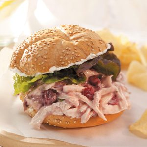 Quick Cranberry Chicken Salad Sandwiches