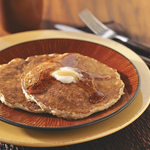 Quick Oatmeal Raisin Pancakes