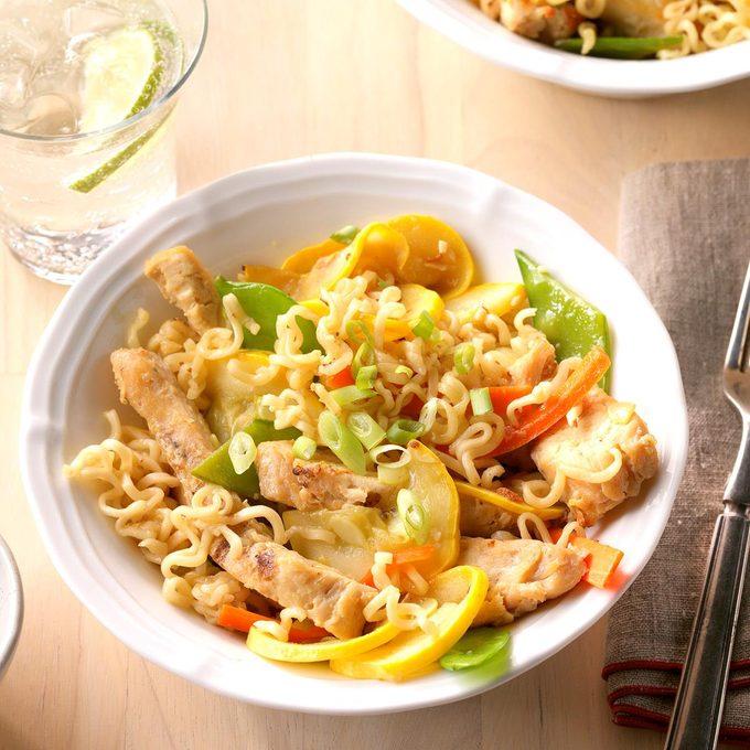 Quick Sesame Chicken Noodles