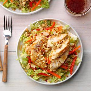 Ramen-Veggie Chicken Salad