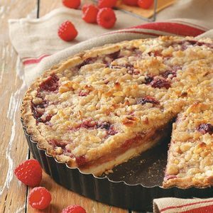 Raspberry Pear Tart