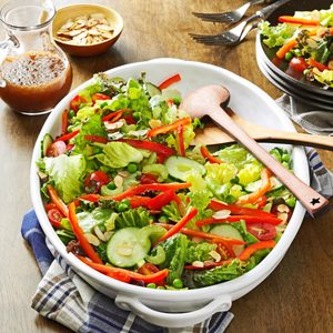 Red & Green Salad with Toasted Almonds
