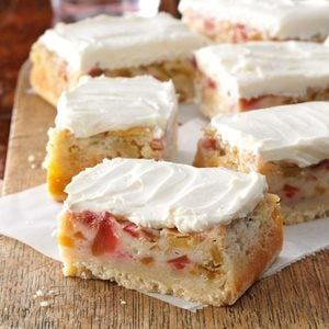 Rhubarb Custard Bars