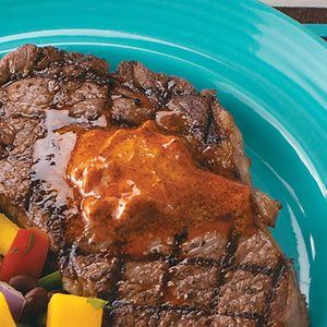Ribeyes with Chili Butter