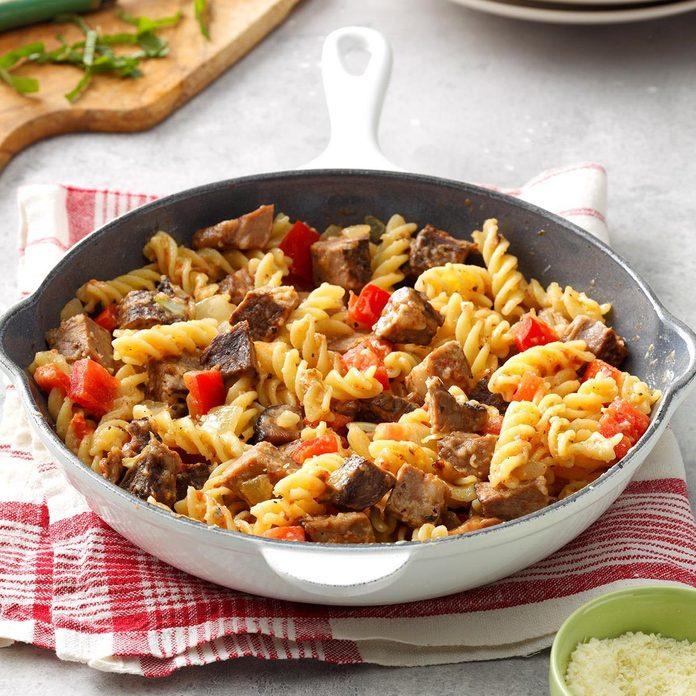 Roast Beef Pasta Skillet