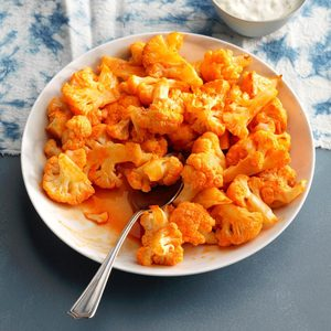 Roasted Buffalo Cauliflower Bites