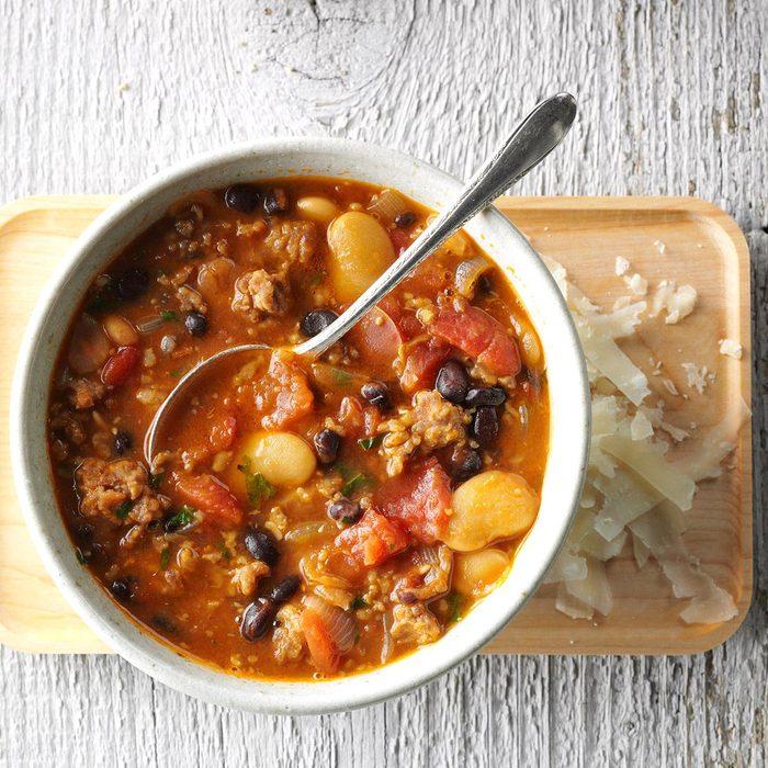 February: Sausage Bean Soup