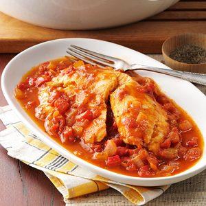Savory Tomato-Braised Tilapia