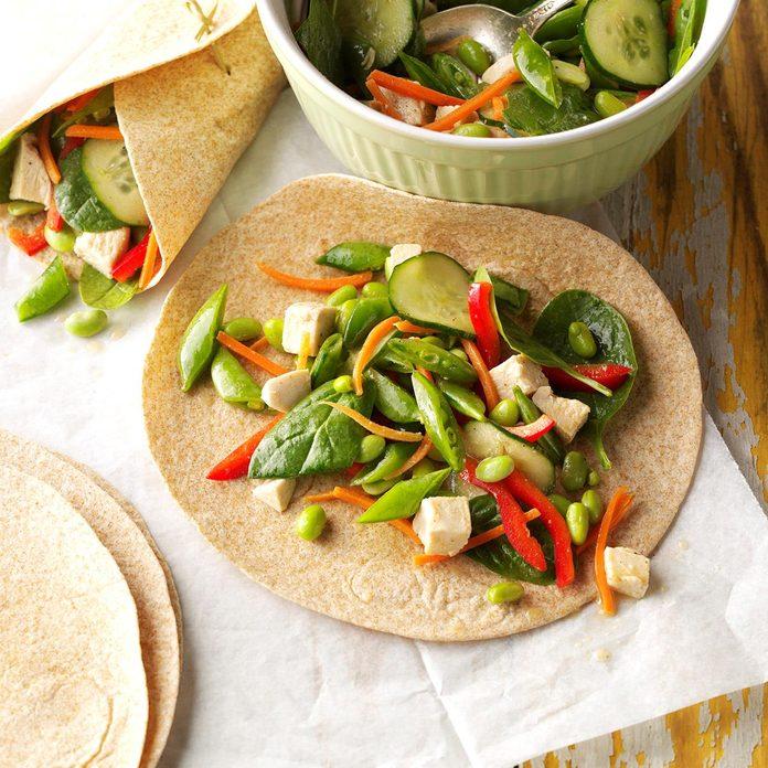 Sesame Chicken Veggie Wraps