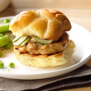 Shiitake-Chicken Sliders