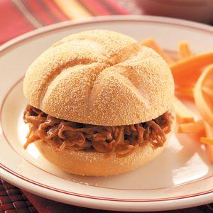 Shredded BBQ Beef Sandwiches
