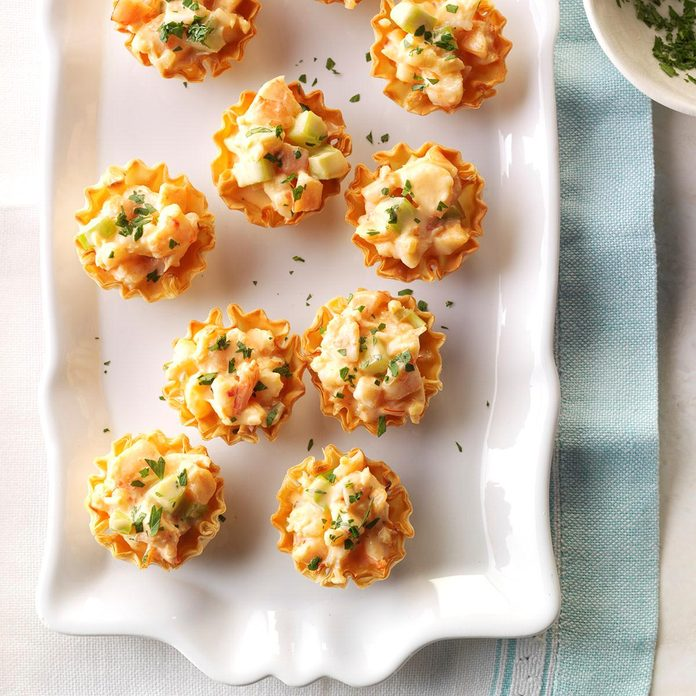 Shrimp in Phyllo Cups