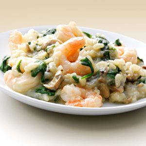 Shrimp 'n' Spinach Risotto