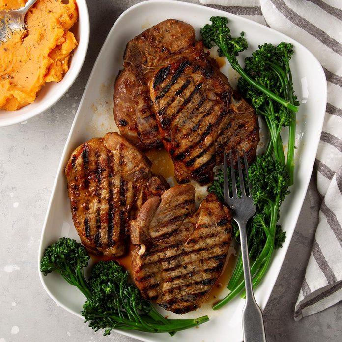 Simple Marinated Grilled Pork Chops