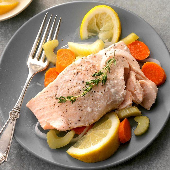 Jacqueline Kennedy: Poached Salmon
