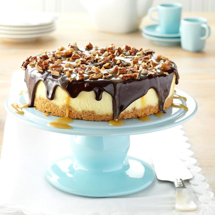 Inspired by: Cheesecake Factory Caramel Pecan Turtle Cheesecake