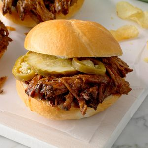 Slow-Cooked Barbecued Beef Sandwiches