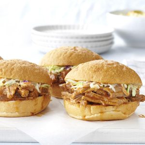 Slow-Cooked Barbecued Pork Sandwiches